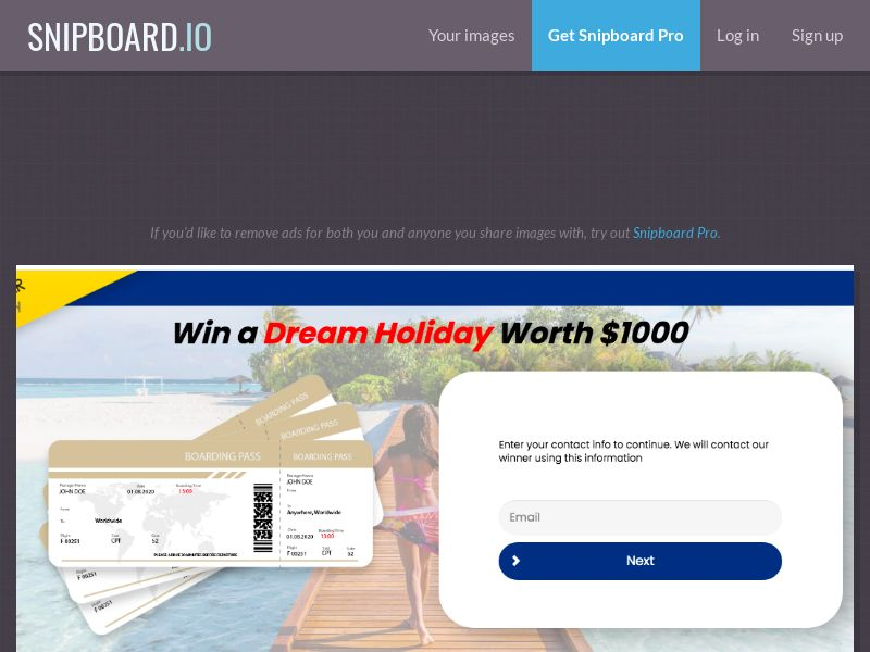 YouSweeps - Win a Dream Holiday US - SOI