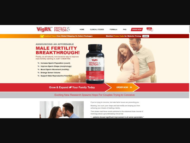 VigRX Fertility Factor 5 - Male Enhancement - SS - [GEOs with exceptions]