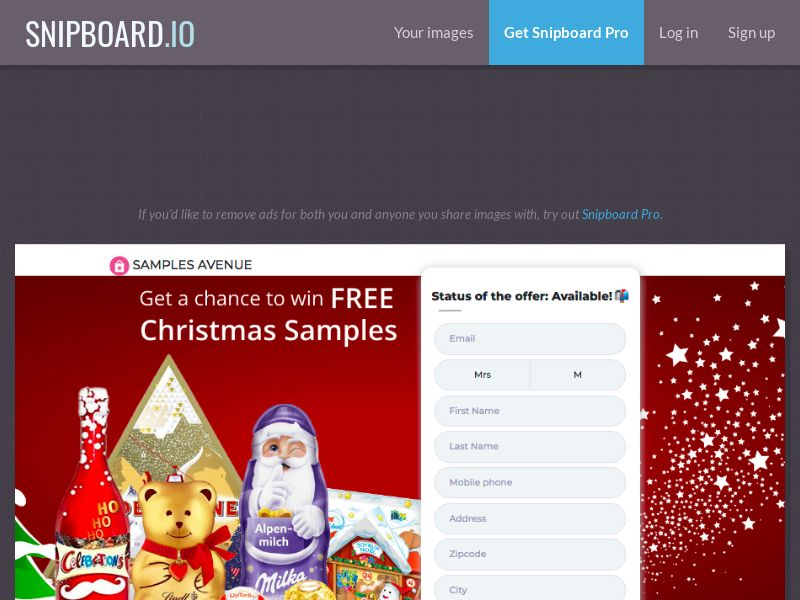 Samples Avenue - Christmas Product Samples US - SOI