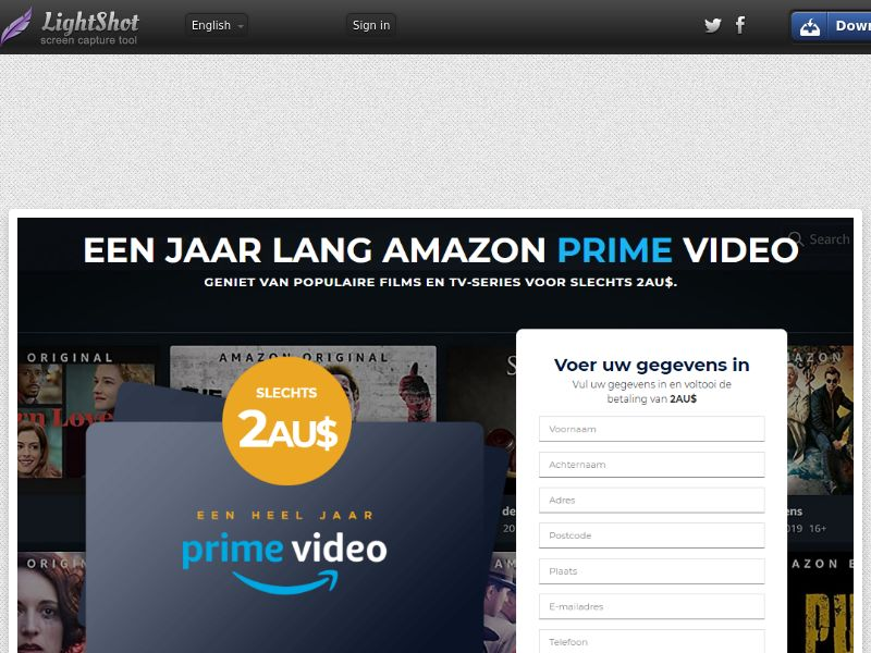 winlotsofthings Prime Video (Streaming) (CC Trial) - Belgium (BEnl)