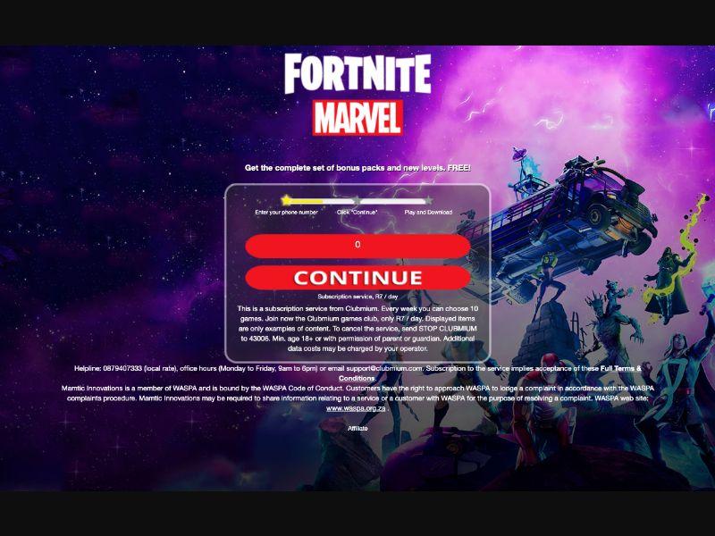 Fortnite - 1 click - ZA-MTN - Online Games - Mobile