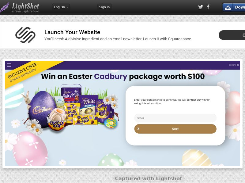 ConsumersConnect - Win Cadbury Easter Package (SE) (CPL) (Personal Approval)
