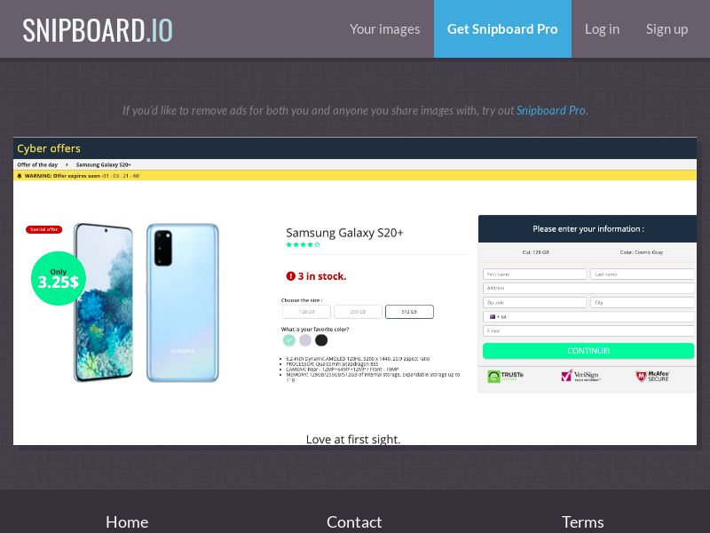 37664 - NZ - G33K Premium - Samsung Galaxy S20 (Amazon) - CC submit