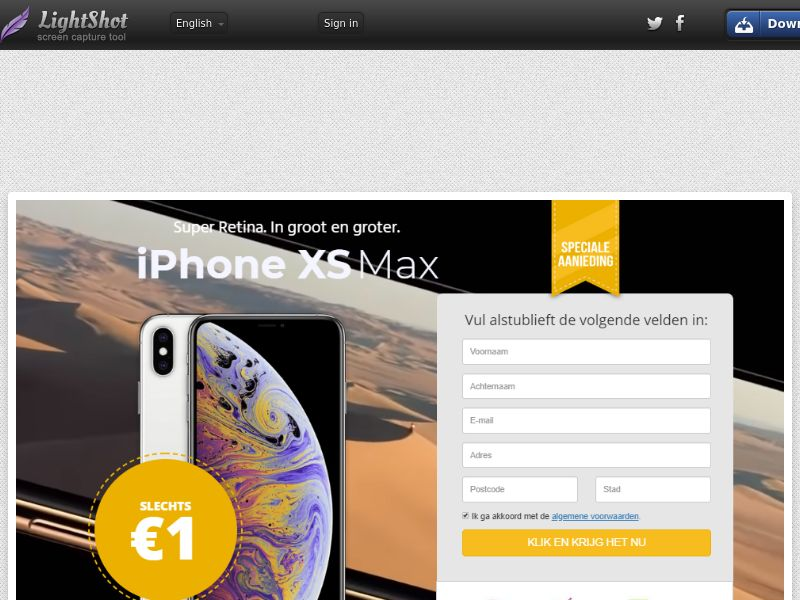King Serious iPhone Xs Max *NO SMS* (Sweepstake) (CC Trial) - BENL
