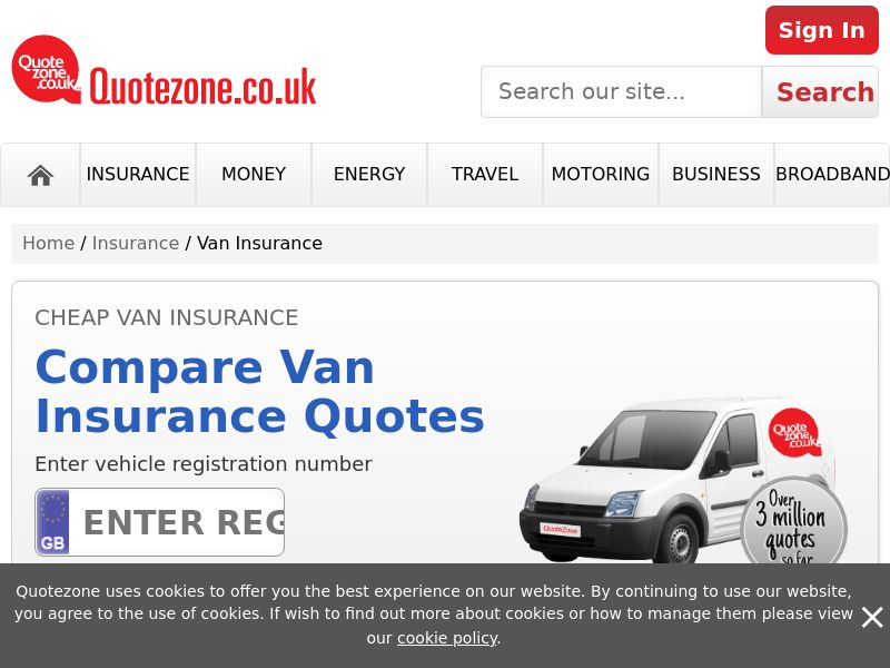 QuoteZone - Compare Van Insurance - CPL (UK)