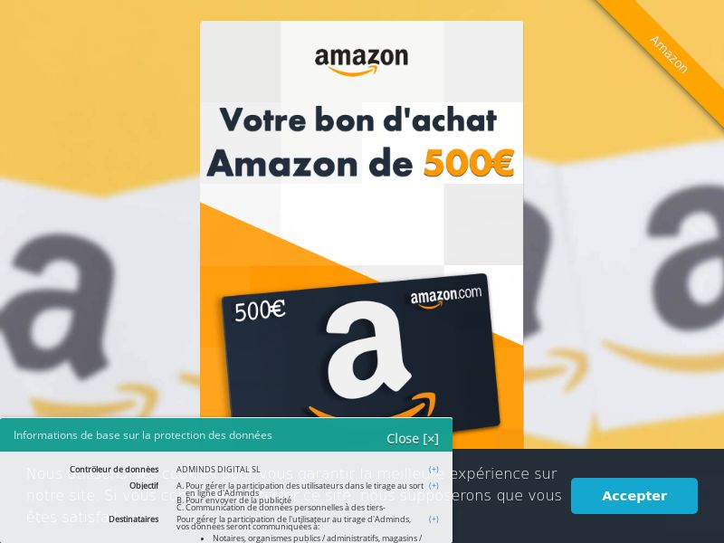 Amazon Gift Card - FR (FR), [CPL], Lotteries and Contests, House and Garden, Household items, Appliances and Electronics, Hardware, Single Opt-In, paypal, survey, gift, gift card, free, amazon, shop, gift