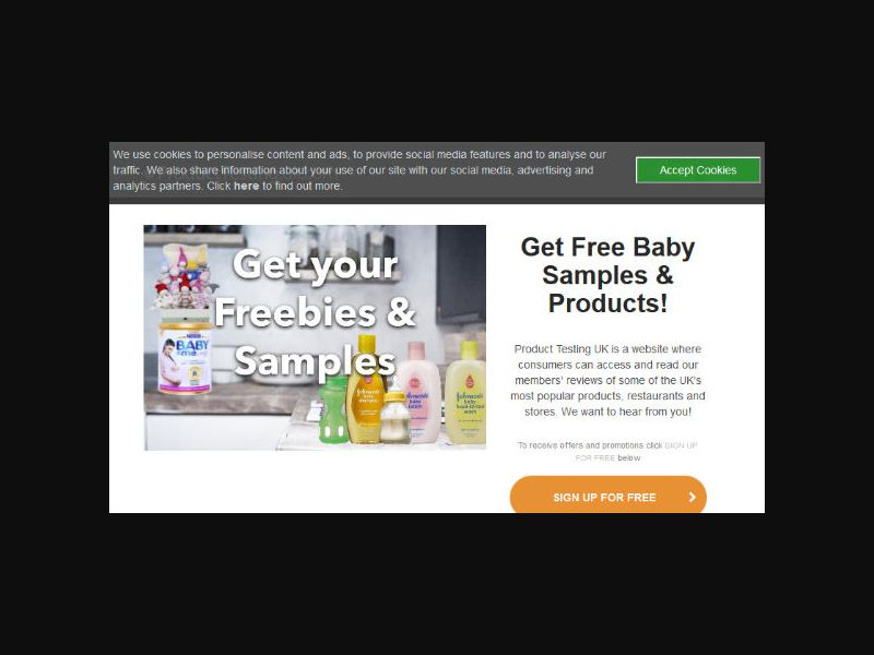 Product Testing - Baby Samples & Products (UK)