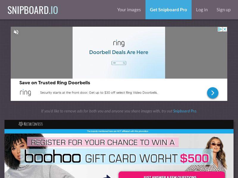 NectarContests - Boohoo Giftcard $500 SE - SOI