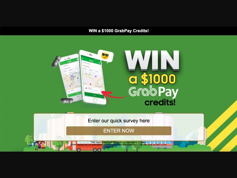 GrabPay Credit - CPL SOI - SG - Sweepstakes - Responsive