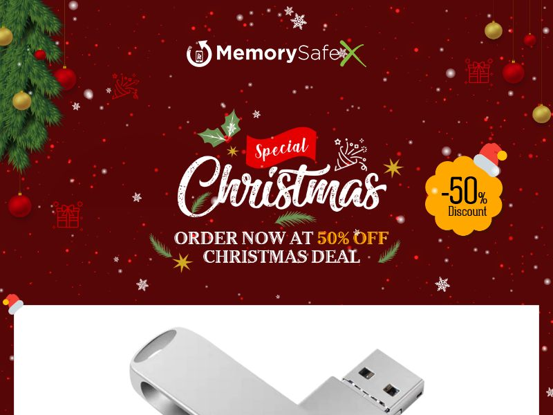 MemorySafeX - Backup Storage for iOS and Android - CPA - Special Xmas LP - [INTERNATIONAL]