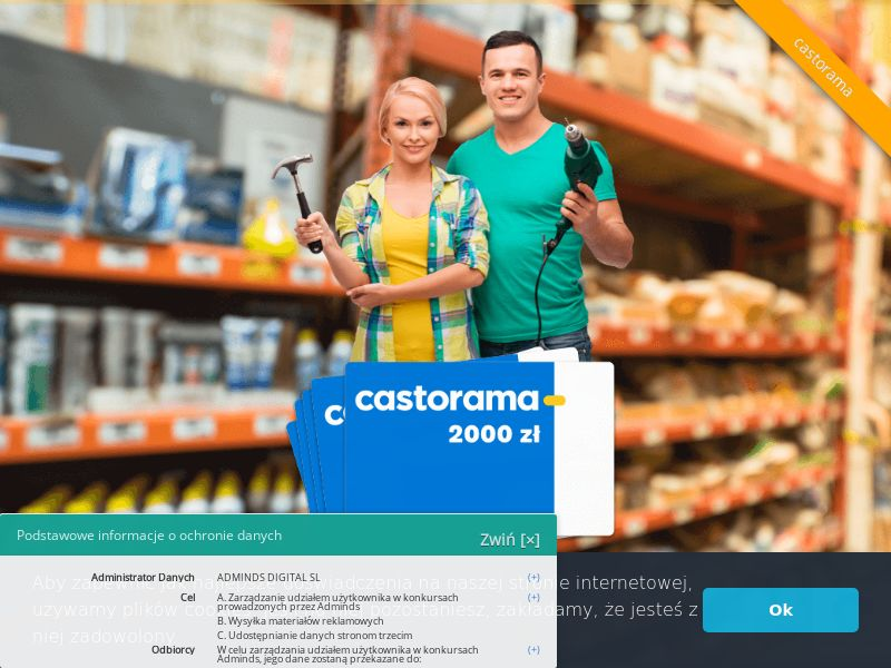 Castorama (PL), [CPL], Lotteries and Contests, House and Garden, Garden, Building, Single Opt-In, paypal, survey, gift, gift card, free, amazon, shop, gift