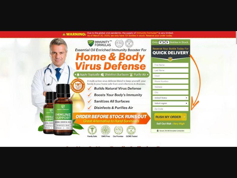 Immunity Formulas Immune Support - Health - SS - [All GEOs, No RU, EG]