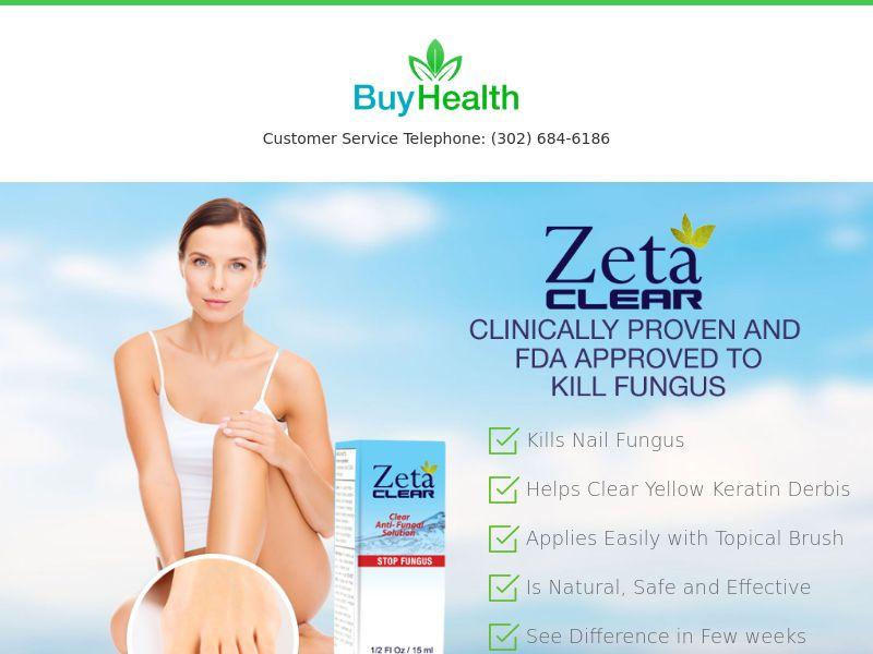 ZetaClear Nail Fungus [NAIL] - CPA - Straight Sale - INTL