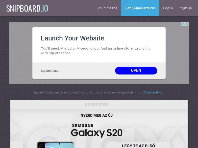 MagnificentPrize - Samsung Galaxy S20 HU - CC Submit