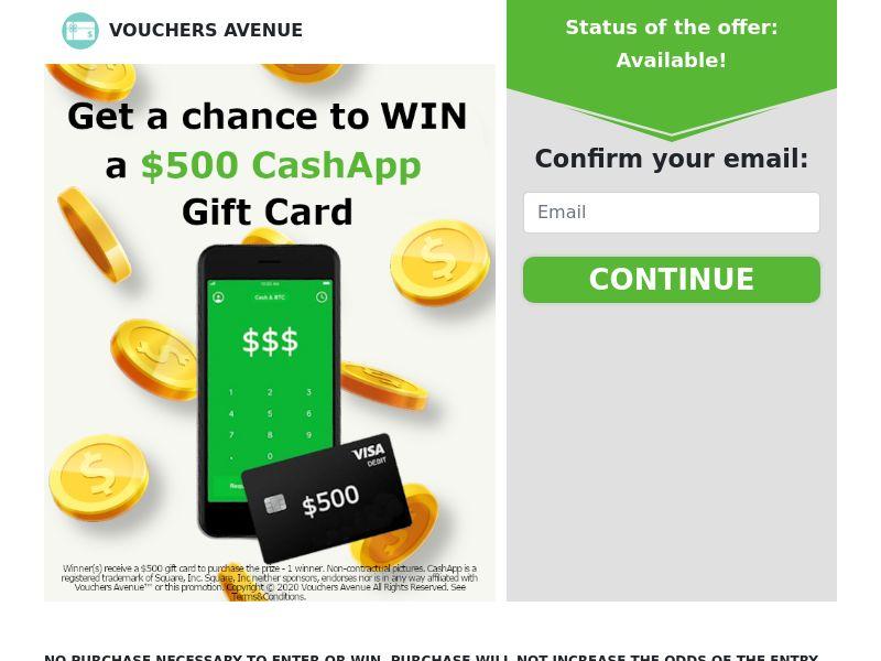 Vouchers Avenue - CashApp Gift Card - CPL - US [EXCLUSIVE]