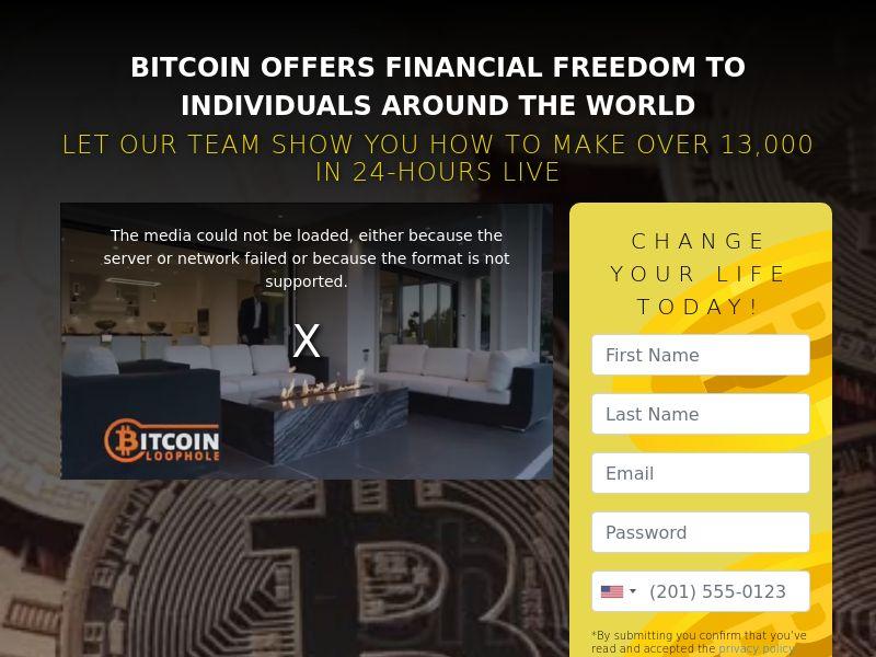 Bitcoin Profit App - IT Landing Page / AT DE