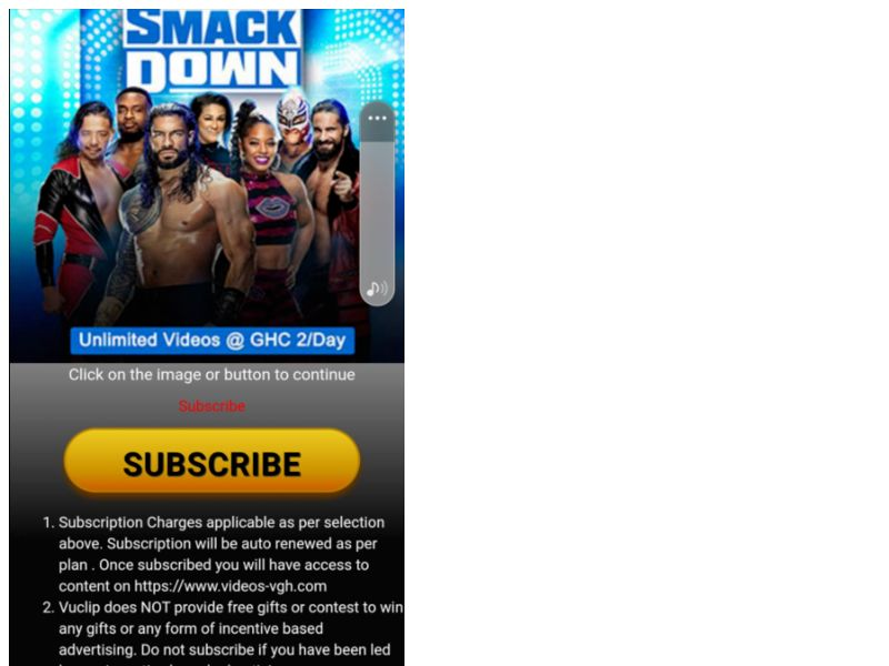 WWE Smackdown Vodafone