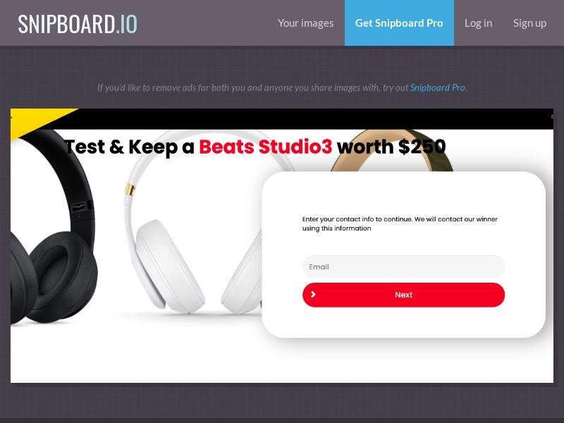 38834 - US - YouSweeps - BEATS Studio - SOI