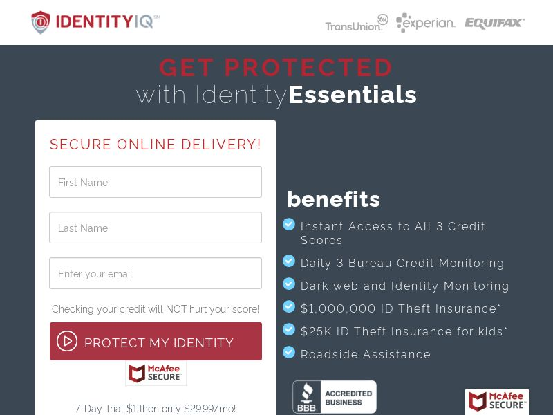 Trial - Identity Essentials [US] (Email Only) - CPA {No Incent}