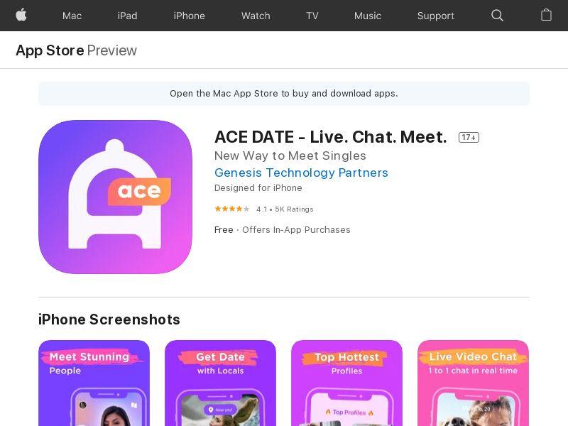 ACE DATE - China - iOS APP