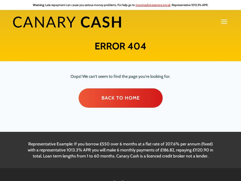 Canary Cash - Payday Short Term Loans [UK]