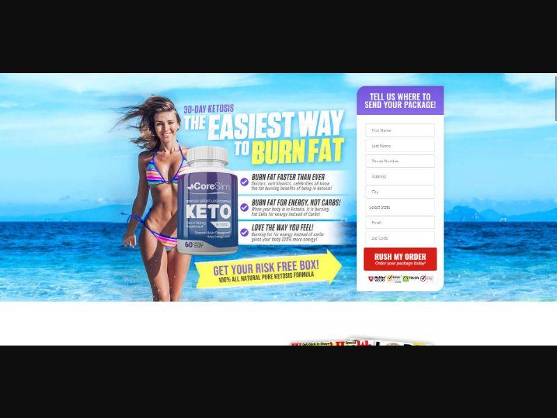 CoreSlim Keto - Diet & Weight Loss - SS - [US]