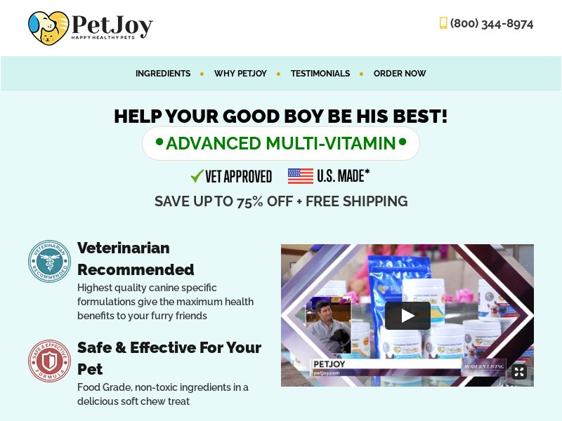 PetJoy - Vitamins for dogs - CPA - [US]