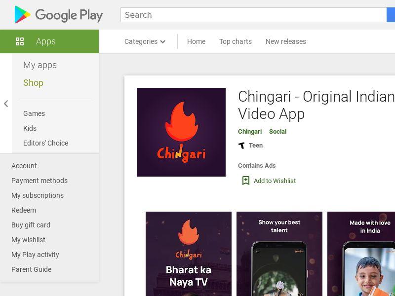 Chingari - Android (IN) (CPI) (GAID) (APP Name)