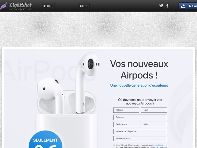 Click Airpods (Sweepstake) (CC Trial) - France [FR]
