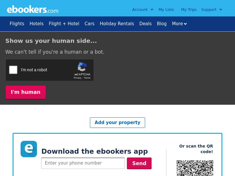 ebookers - UK (GB), [CPS], Transport and Travel, Accommodation, Tours, Transport, Sell, holiday