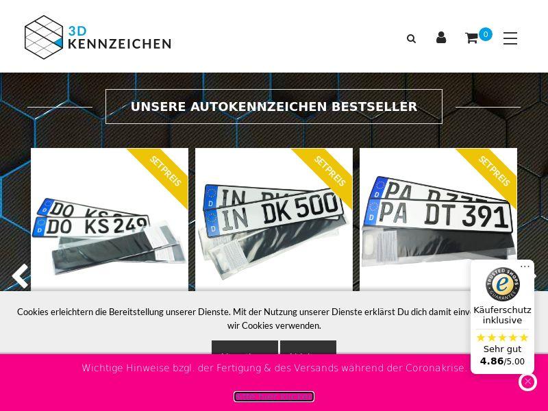 3D Kennzeichen - DE (DE), [CPS], Motoring, Car accessories, Sell, moto