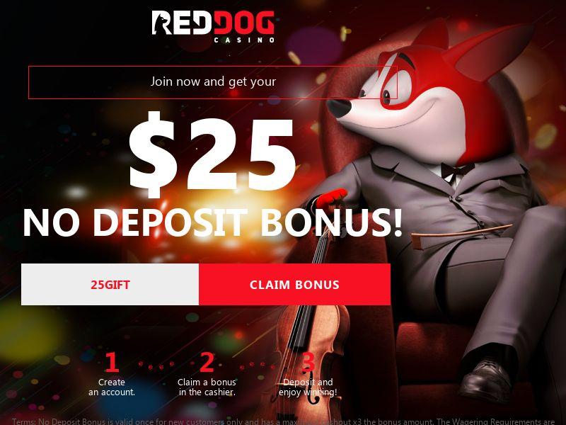Red Dog $25 No Deposit Bonus - CA, US, AU