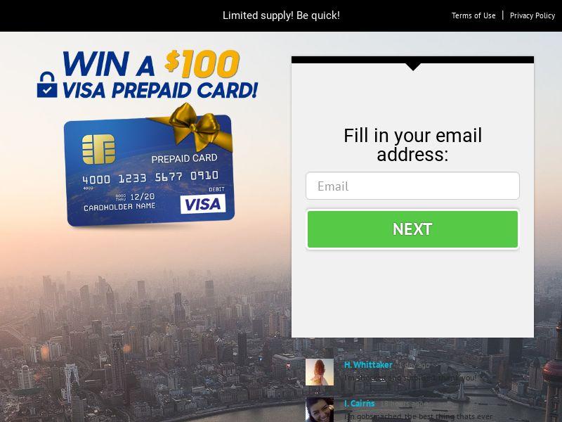 Win a Visa prepaid card - US