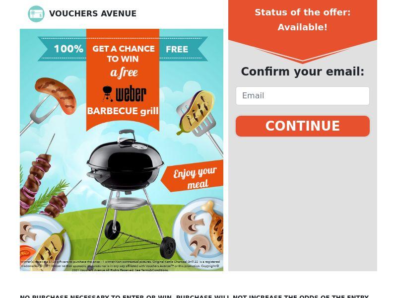Vouchers Avenue - Barbecue Weber - CPL - US [EXCLUSIVE]