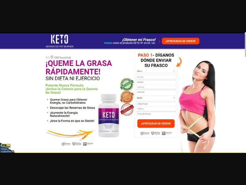 Keto Advanced Fat Burner - Diet & Weight Loss - SS - [14 GEOs]