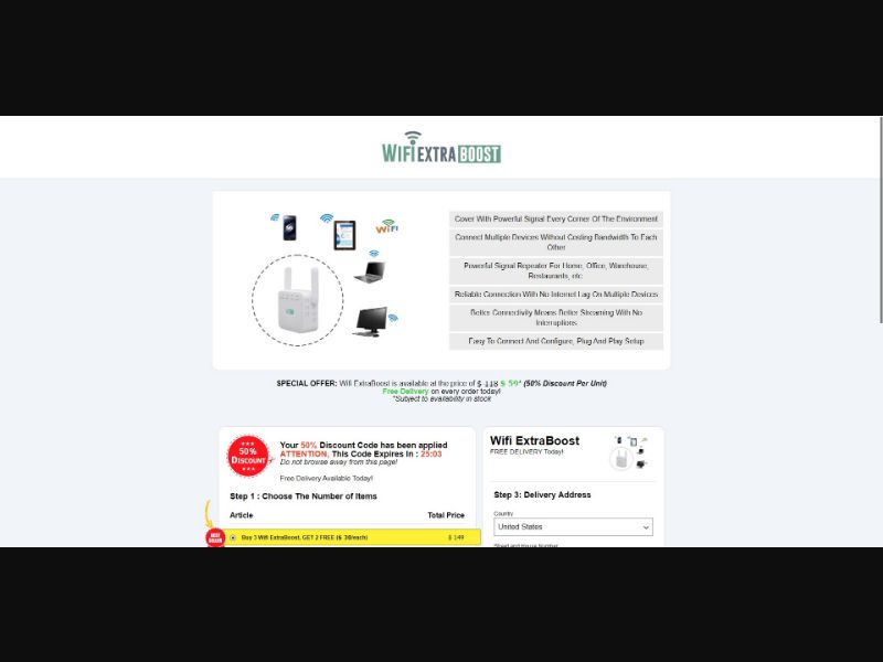 Wifi ExtraBoost - eComm / Gadgets - SS - [All GEOs]
