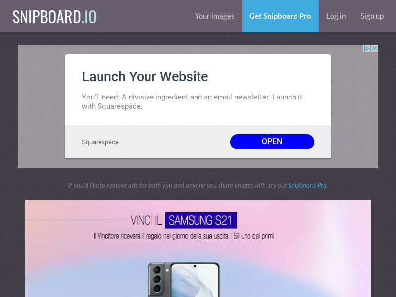 LeadsWinner - Samsung Galaxy S21 IT - SOI