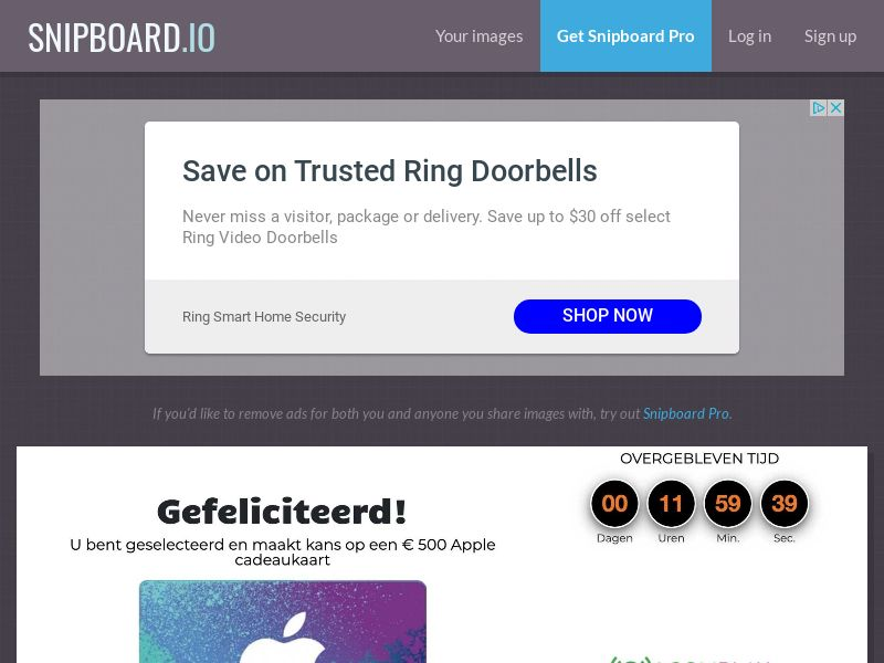 CoreSweeps - Apple Giftcard 500 EUR NL - CC Submit