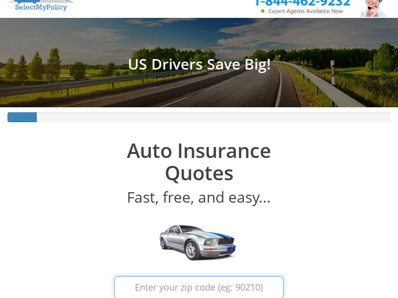 Select My Policy - Auto Insurance [US] (Email,Native,Social,Banner,Push,Search) - CPL