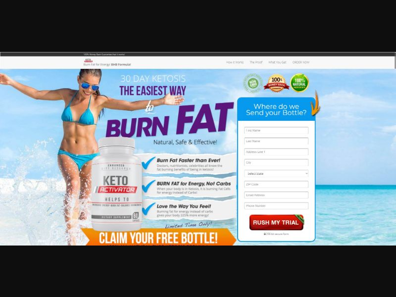 Keto Activator - Diet & Weight Loss - Trial - NO SEO - [US]