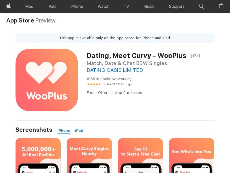 ! [CPE] Curvy Singles Dating- iOS / US IDFA APPNAME