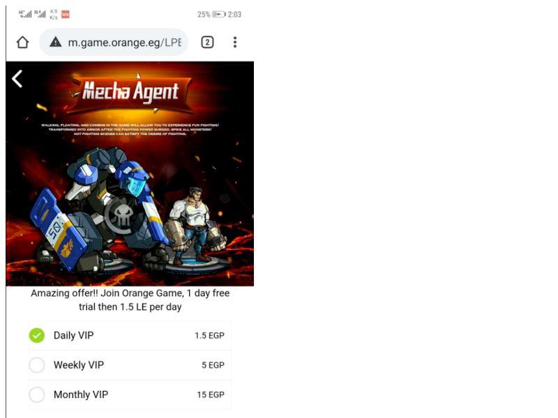 H Mecha Agent Orange