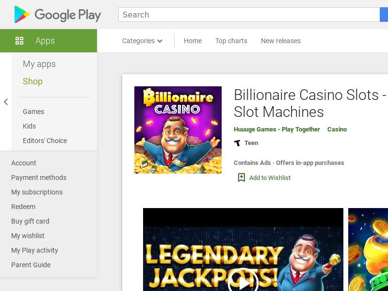 Billionair Casino Slots 777 - Free Vegas Games - United Kingdom - Android APP