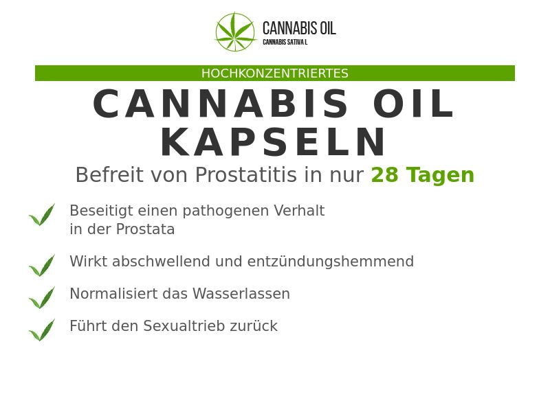 Cannabis Oil DE (prostatitis)