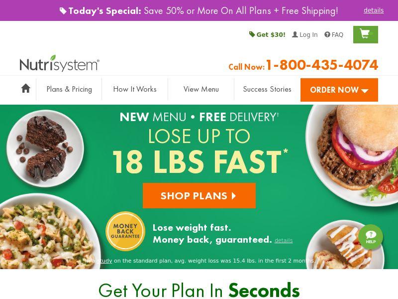 Nutrisystem 40% off - US