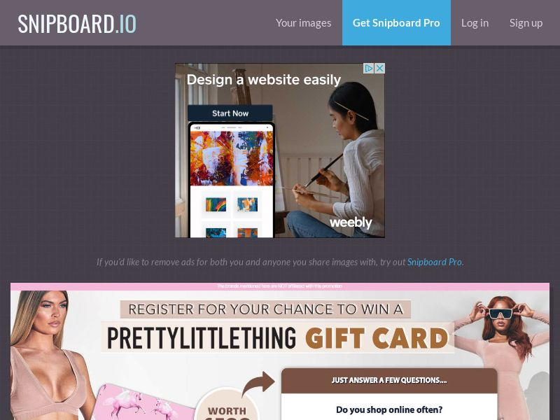 NectarContests - Pretty Little Thing Fashion Giftcard UK - SOI