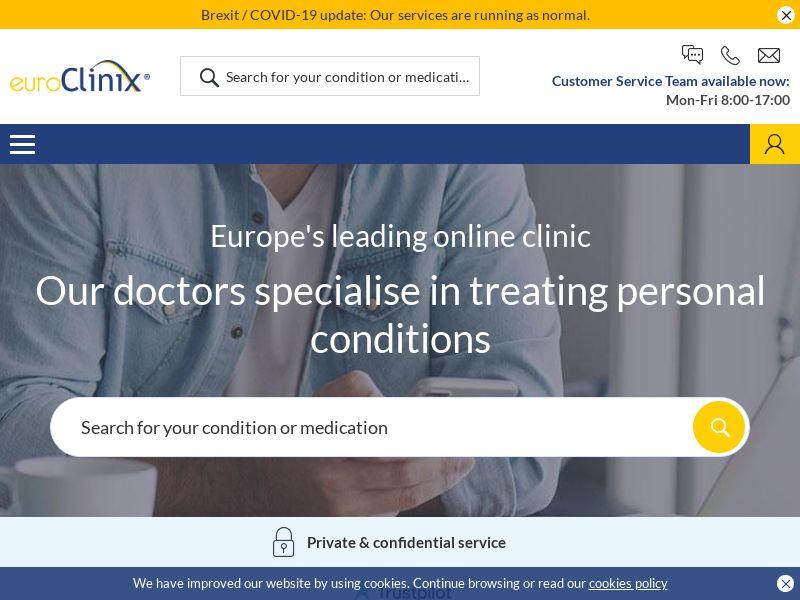 euroClinix   Established EU Prescription Medication Clinic - Multi Language