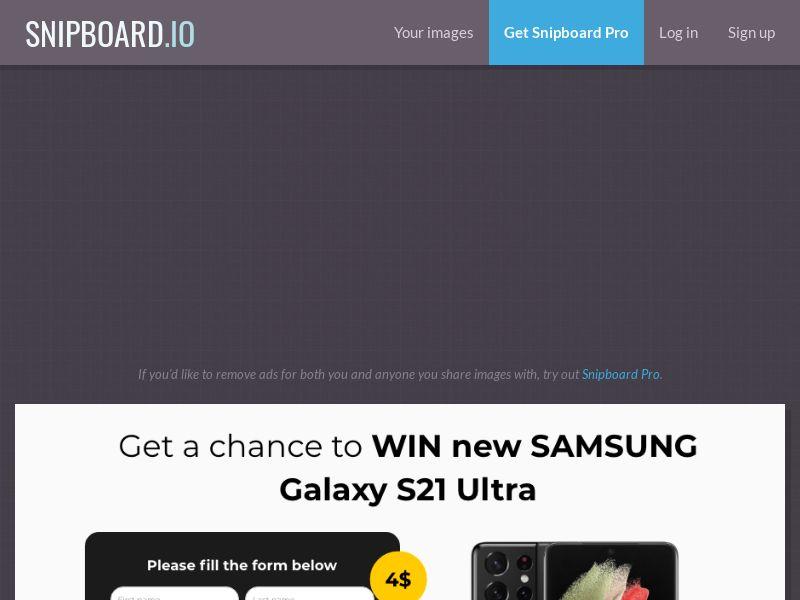 BigEntry - Samsung Galaxy S21 Ultra v1 NZ - CC Submit
