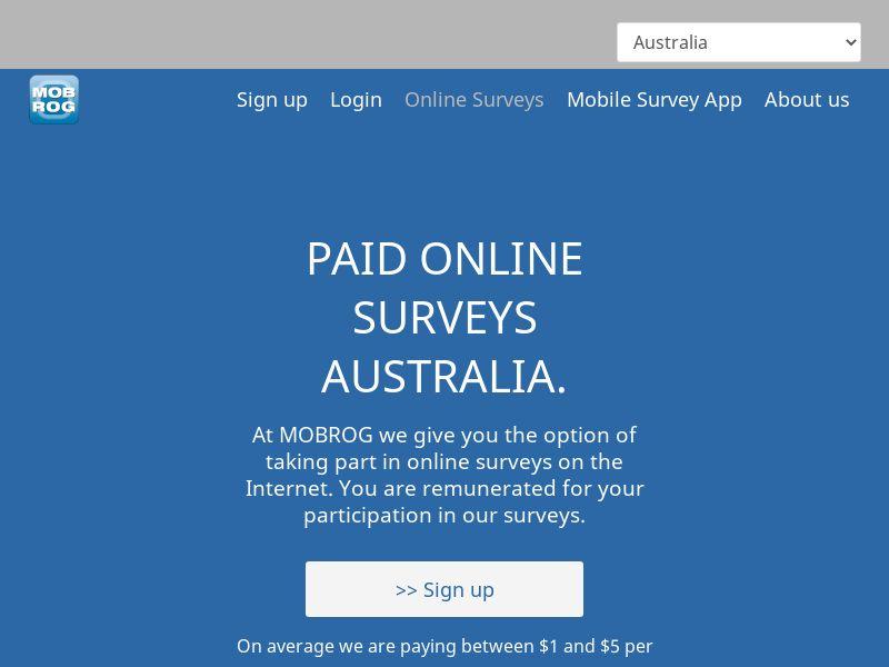 MobRog Online Surveys [AU]