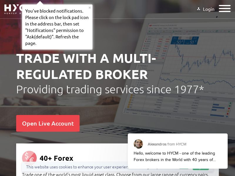 HYCM Trading - WORLDWIDE - CPA - DIRECT
